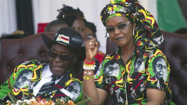 Mugabe and Wife